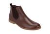 Botina Chelsea Boots ESCRETE Original Couro Liso Floater Pinhão 502