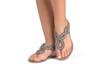 sandália Detalhe com Tressê