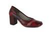 Sapato Em Couro Galeany Alto Vermelho J.Gean