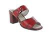 Sandália Em Couro Galeany Alta Vermelha J.Gean