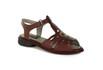 Sandália New Lauren Vermelha Em Couro J.Gean