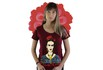 Babylook Frida Kahlo Alas Bordô