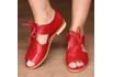 Sandália Salto Baixo com Calcanhar Fechado Vermelha - 842-08