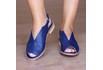 Sandália Salto Baixo Fly Azul Anil- 842-12