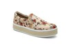 Slip-on Feminino Violanta Arizona Bege Floral