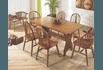 Sala de Jantar com Mesa pé central 1,60m x 0,90m + 4 Cadeiras em Madeira Maciça - Imbuia