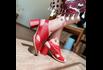 Sandália Salto Grosso Vermelha - 177-20