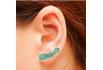 Brinco Ear Cuff Zircônia Lesprit LB14741LBCL Ródio Turmalina