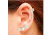 Brinco Ear Cuff Zircônia Lesprit LB12271CL Ródio Cristal