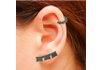Brinco Ear Cuff Zircônia Lesprit LB12271BOBK Ródio Negro Preto