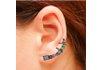 Brinco Ear Cuff Zircônia Lesprit LB12981MIXCLBK Ródio Negro Multicor