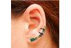 Brinco Ear Cuff Zircônia Lesprit LB12981MIXBOBK Ródio Negro Multicor