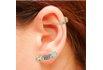 Brinco Ear Cuff Zircônia Lesprit LB12271MIXRS Rosé Multicor