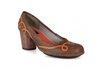 Sapato Em Couro Lolla Alto Laranja J.Gean