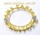 Pingente Mandala Ouro 18K Com Nomes Personalizados e 6 Diamantes de 1,5 Pontos