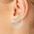 Brinco Ear Jacket Zircônia Lesprit LB17301WCL Ródio Cristal