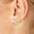 Brinco Ear Jacket Zircônia Lesprit LB17301WGL Dourado Cristal