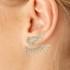 Brinco Ear Jacket Zircônia Lesprit LB17821WMORRS Rosé Cristal