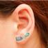 Brinco Ear Cuff Zircônia Lesprit LB14741MIXRS Rosé Multicor