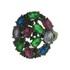 Anel Zircônia Lesprit LA04561BOMIXBK Ródio Negro Multicor