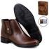 Botina Chelsea Boots Feminina Couro Legitimo Escrete 2464 Carteira Brinde