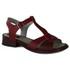Sandália Anelise em couro Vermelho J.Gean