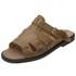 Sandália de Couro Caramelo Linha Conforto - Selten