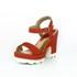 Sandália Feminina Top Franca Shoes Salto Grosso Vermelho