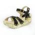 Sandália Feminina Top Franca Shoes Plataforma Anabela Preto