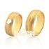 Alianças De Noivado e Casamento Em Ouro Amarelo 18k 0,750 Fa-1035