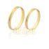 Belíssimas Alianças De Noivado e Casamento Em Ouro Amarelo 10k