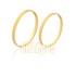 Alianças de Casamento Diamantadas Ouro 10k