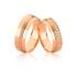 Alianças Com Diamantes Em Ouro Rose 18k