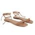 Sandália rasteira de amarrar nude - Noronha