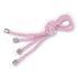 Porta guardanapo de cordão rosa