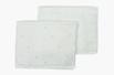 Set toalha de lavabo poás verde celadon e rosa