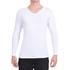Camiseta Gola V Manga Longa Branca- Algodão Egípcio