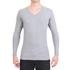 Camiseta Gola V Manga Longa Cinza Mescla- Algodão Egípcio