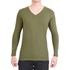 Camiseta Gola V Manga Longa Verde- Algodão Egípcio