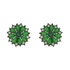 Brinco Zircônia Lesprit 11111 Ródio Negro Verde