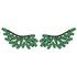 Brinco Ear Cuff Zircônia Lesprit Ródio Negro Verde Leitosa