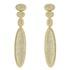 Brinco Zircônia Lesprit LB22851 Dourado Cristal