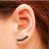 Brinco Ear Cuff Zircônia Lesprit LB15221BOBK Ródio Negro Preto