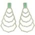 Brinco Zircônia Lesprit LB22631 Ródio Cristal e Verde Água