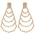 Brinco Zircônia Lesprit LB22631 Rosé Cristal e Morganita