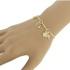 Pulseira Beloque Zircônia Lesprit LP01231WGL Dourado Cristal