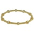 Pulseira Bracelete Zircônia Lesprit 60096431 Dourado Cristal