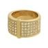 Anel Zircônia Lesprit 00031 Dourado Cristal