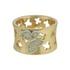 Anel Zircônia Lesprit 00004 Dourado Cristal