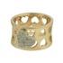 Anel Zircônia Lesprit 00005 Dourado Cristal
